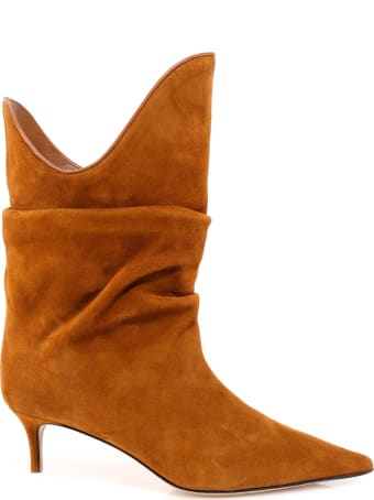 The Attico Pointed Slouched Boots