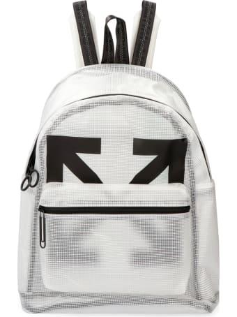 Off-White Logo Detail Pvc Backpack