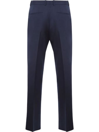 Jil Sander Navy Blue Wool Trousers