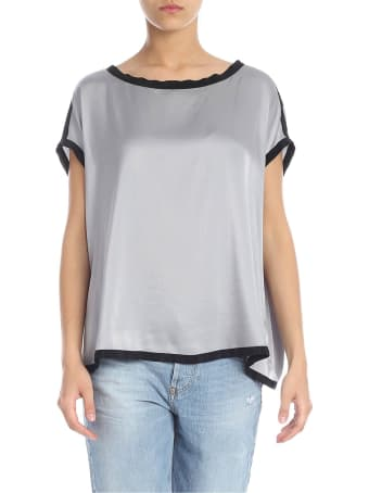 Jucca Silk Blouse With Contrast Edges