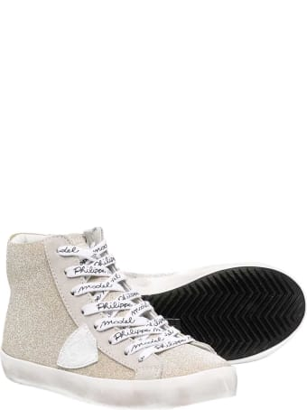 Philippe Model Gold Sneakers Teen
