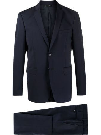 Tonello Blue Single-breasted Wool Suit