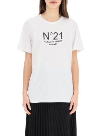 N.21 Oversized T-shirt With Logo Print