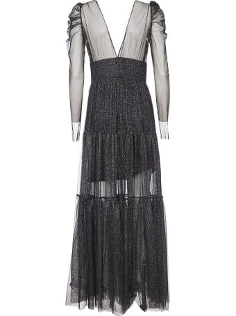 aniye by V-neck Long Glittery Dress