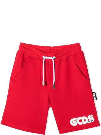 GCDS Red Cotton Shorts