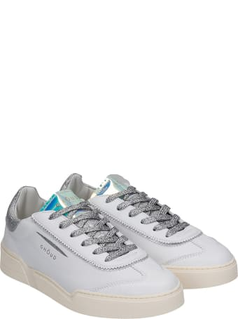 GHOUD Low Sneakers In White Leather