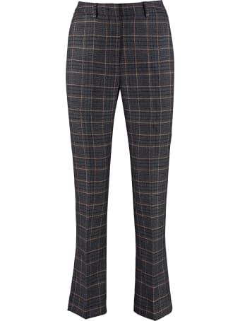 Weekend Max Mara Pantera Check Wool Trousers