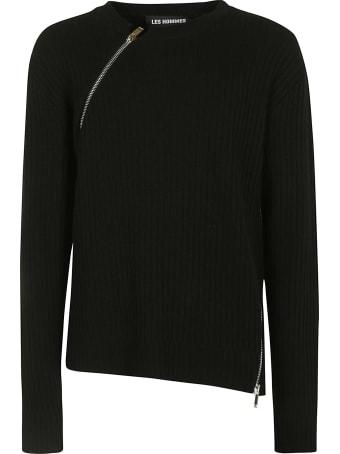 Les Hommes Double-zip Detail Sweater