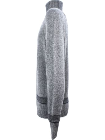 Drumohr Grey Wool Sweater