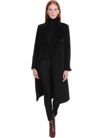 Tagliatore 0205 Jole Coat In Black Wool