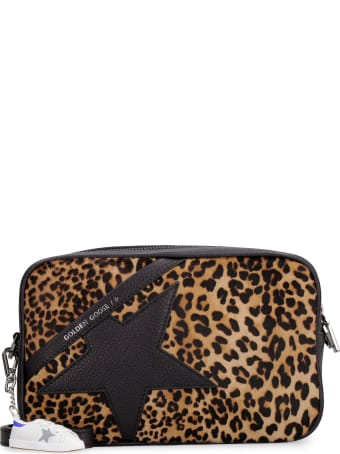 Golden Goose Star Bag Leather And Leopard Pony Hide Shoulder Bag