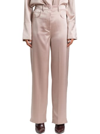Nanushka Satin Wide-leg Trousers