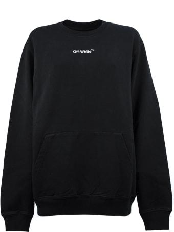 Off-White Sweatshirt In Black Cotton