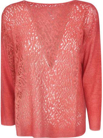 f cashmere Lace Knit Sweater