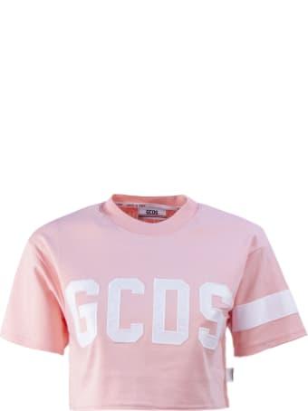 GCDS Pink Cotton T-shirt