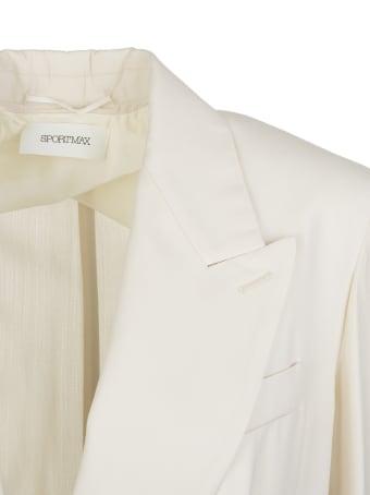 Max Mara Ivory Corvino Overcoat