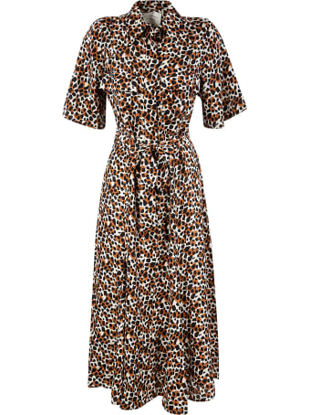 Les Coyotes De Paris Fitted Waist Printed Long Dress