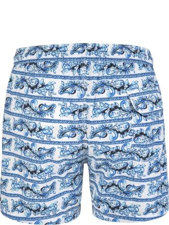 Capri Code Blue And Light Blue Vietri Sul Mare Swimsuit