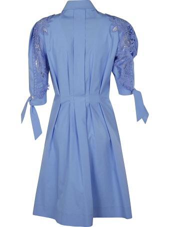 Alberta Ferretti Floral Lace Shirt Dress