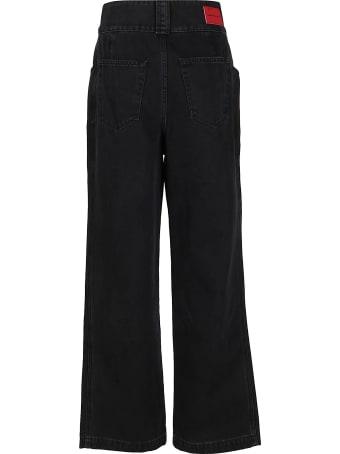 Alessandra Rich Black Cotton Jeans