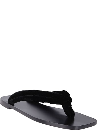 The Row Black Swan Sandal