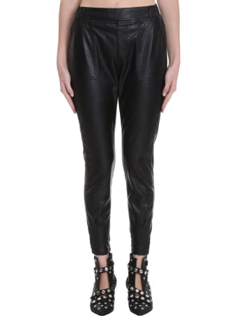 TPN3 Pants In Black Faux Leather