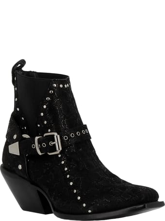 Mexicana Woman's Black Leather Ankle Boots