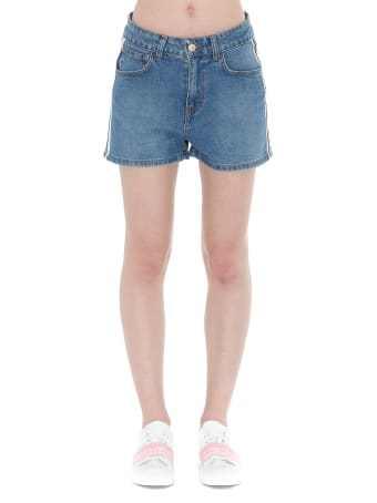 GCDS Logo Band Denim Shorts