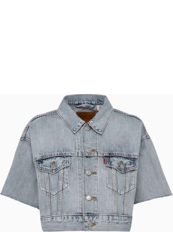 Levi's Levis Ss Crop Dad Truck Jacket 85296