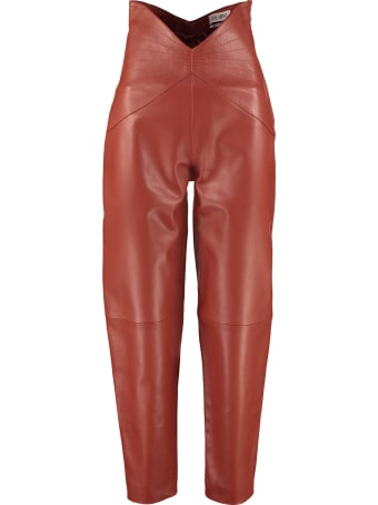The Attico Leather Trousers