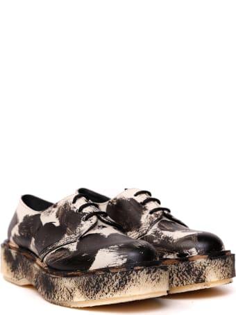 Études études X Adiev Lace Up Shoes In Paint Effect Leather