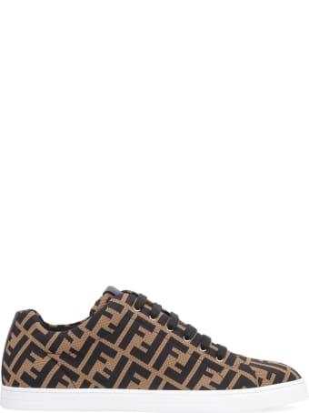 Fendi Knit Low-top Sneakers