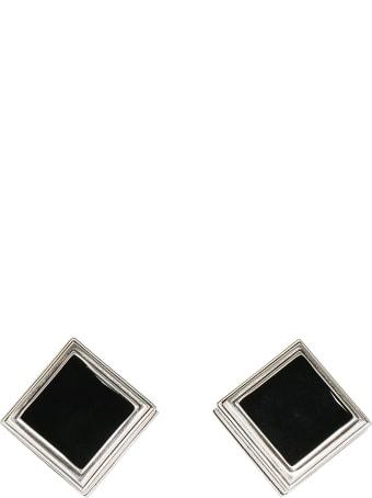 Saint Laurent Monumental Square Earrings