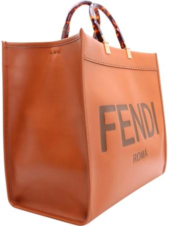 Fendi Sunshine Leather Tote Bag