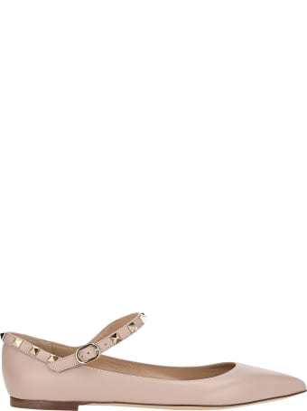 Valentino Garavani Rockstud Ballerina Shoes