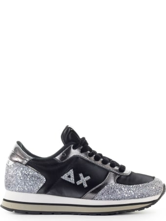 Sun 68 Sun68 Kate Silver Glitter Black Sneaker