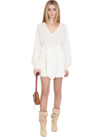 IRO Star Shorts In White Cotton