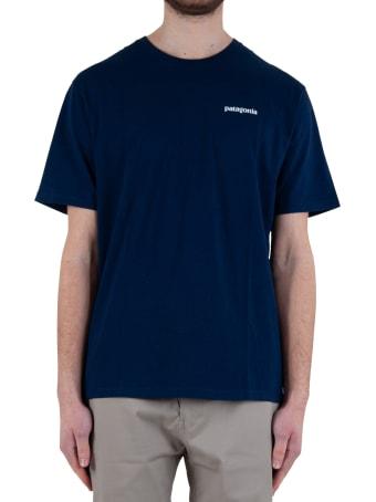 Patagonia Men's P-6 Logo Organic Cotton T-shirt- Navy