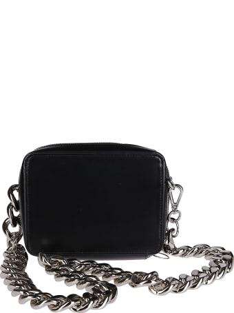 Kara Black Leather Chain Camera Bag
