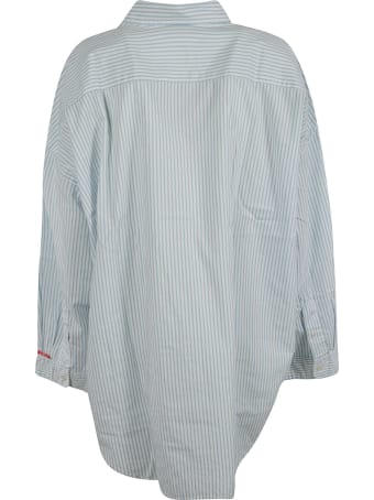Denimist Stripe Print Oversized Shirt