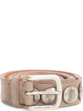 Golden Goose Belt Trinidad Nabuk And Studs