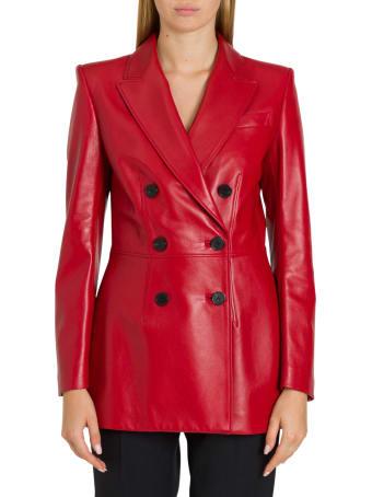 Alexander McQueen Leather Pea-coat
