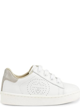 Gucci White Leather Ace Sneakers