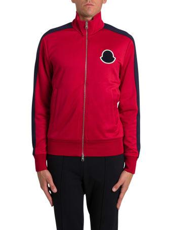 Moncler Zipped Sweatshirt With Logo Patch