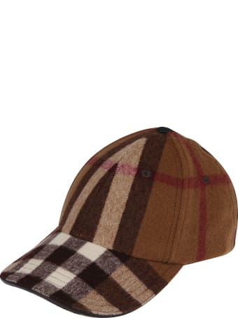 Burberry Brown Wool Baseball Cap