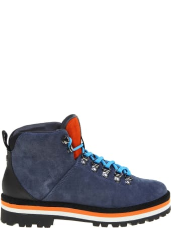 Panchic Ankle Boot In Suede Color Blue