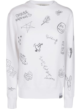 Golden Goose White Cotton Sweatshirt