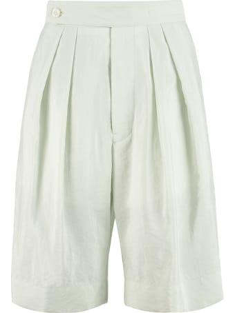Moncler Silk-blend Bermuda-shorts