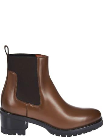 Santoni Ridged Sole Boots