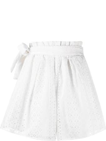 Federica Tosi White Cotton Shorts